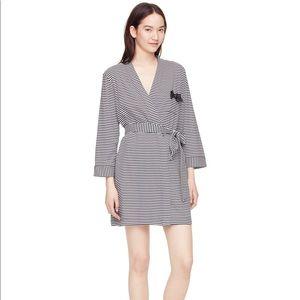 Kate Spade black stripe robe | Kate Spade New York